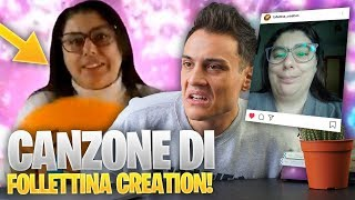 REAGISCO alla NUOVA CANZONE DI FOLLETTINA CREATION ! | Awed™