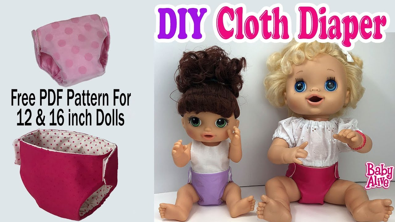 How To Make Diapers For Baby Alive Doll Free Pattern