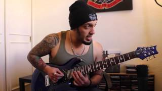 How to play 'Down From The Sky' by Trivium Guitar Solo Lesson w/tabs