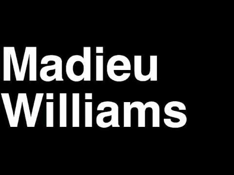 How to Pronounce Madieu Williams San Francisco 49ers NFL Football Touchdown TD Tackle Hit Yard Run