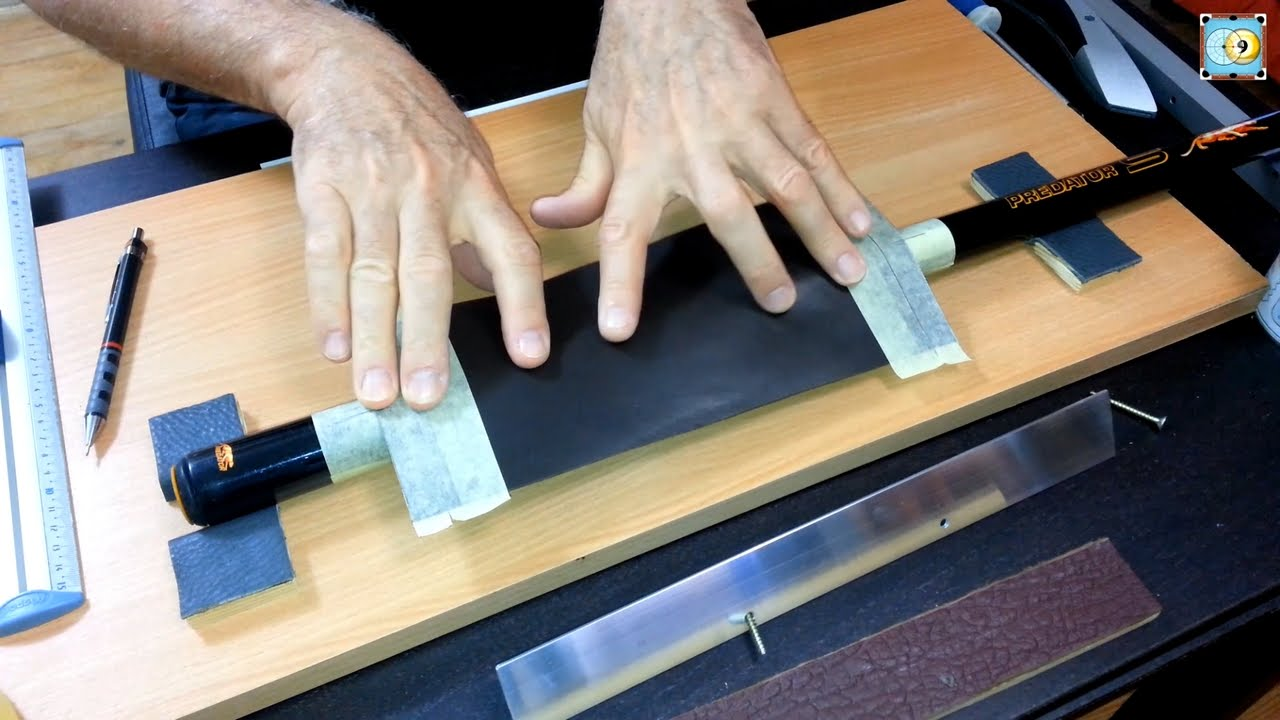 Installing a Calfskin Black Leather Wrap on a Pool Cue - Part 1 - Grip Cuir  sur Predator Sport Cue - YouTube 3b436ba10
