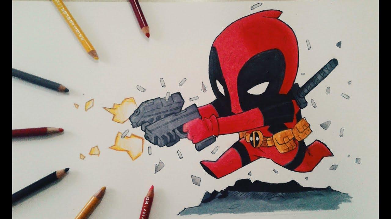 Deadpool Dibujo A Lapiz Facil