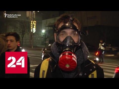 Европейские экоактивисты вышли на улицы и атаковали автошоу - Россия 24