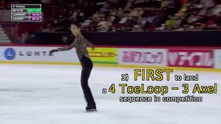Yuzuru Hanyu - 羽生結弦 - Achievements - World Records & FIRST to