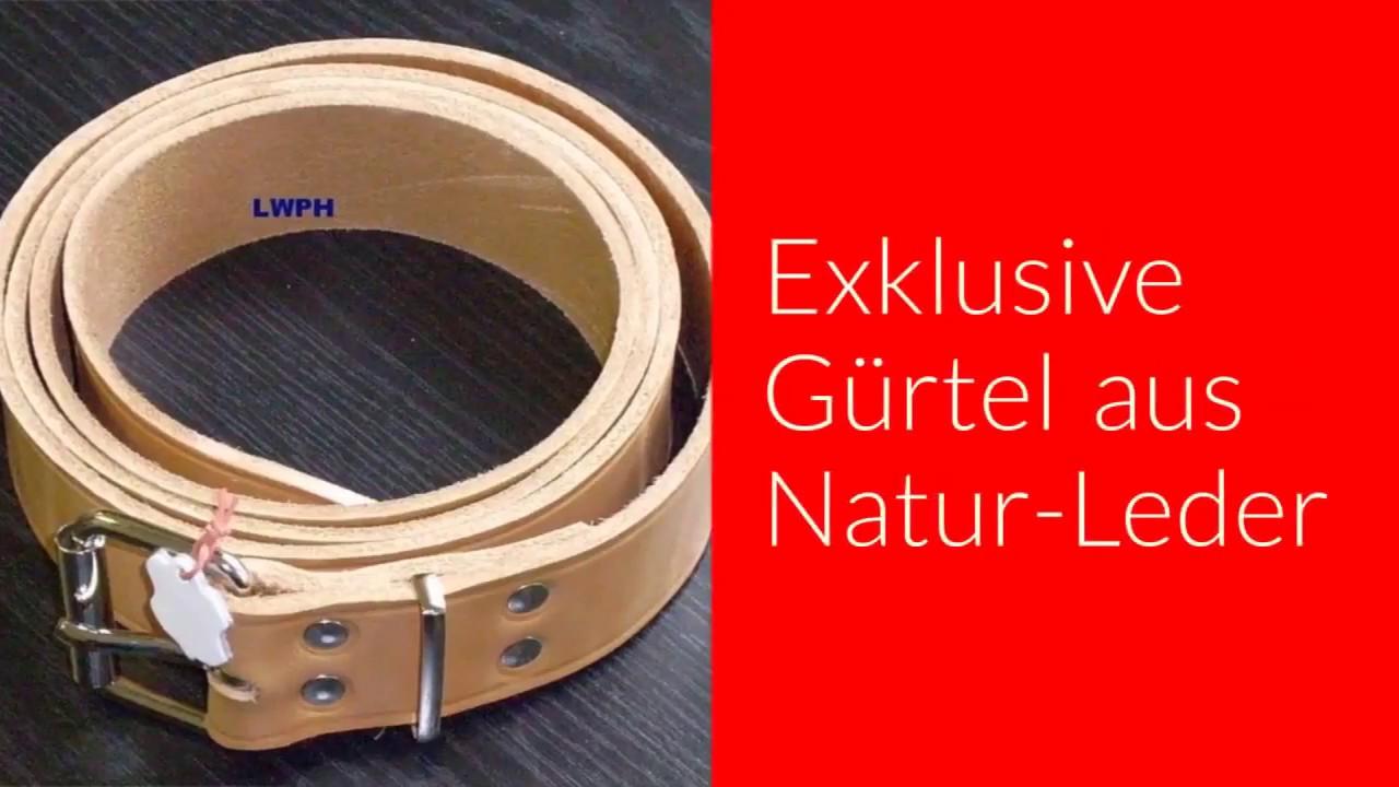Lederriemen Natur 200,0 x 2,5 cm lang Blankleder-Gürtel Befestigungsriemen Leder
