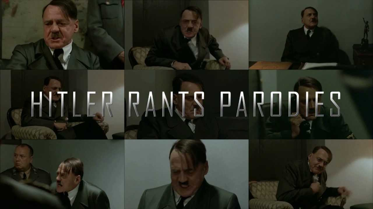 Hitler looks at picture of Hitler Rants Parodies
