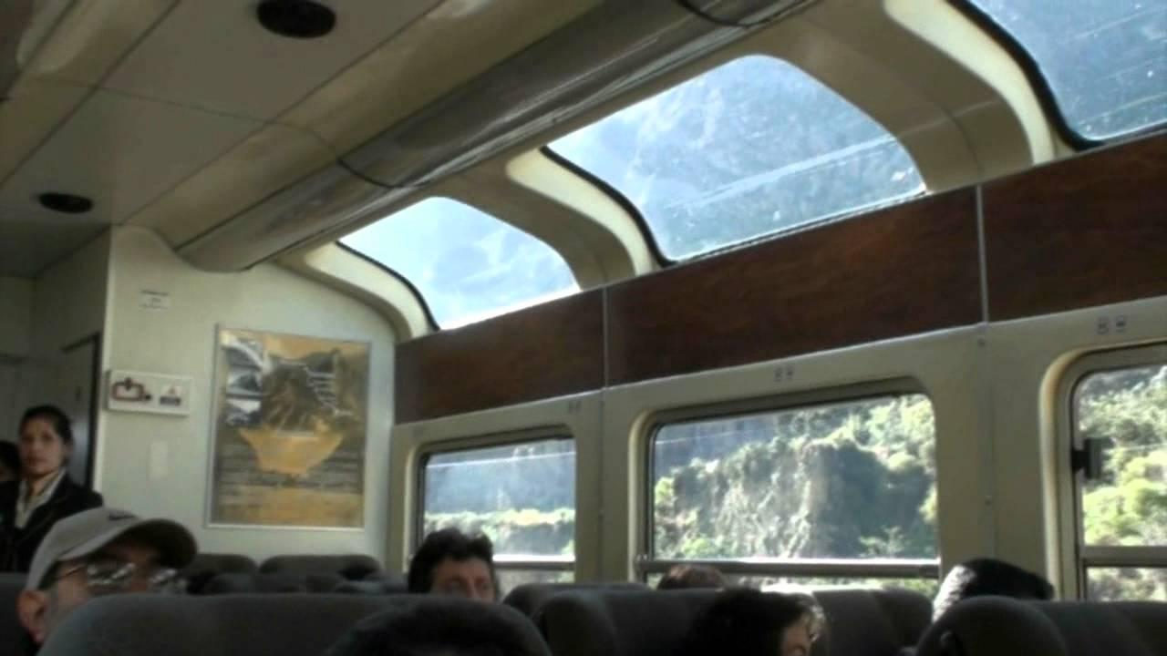 vistadome train to machu picchu  peru
