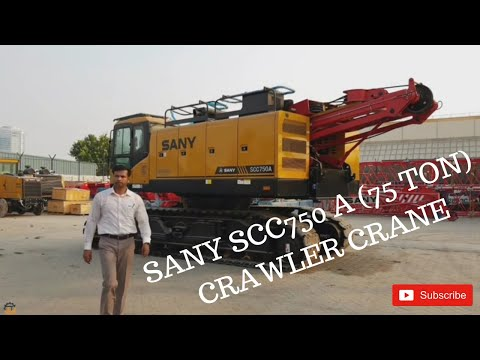 Full Review Of SANY SCC750A Crawler Crane