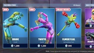 *NEW* BENDIE & TWISTIE SKINS! (Fortnite Item Shop 1st March)