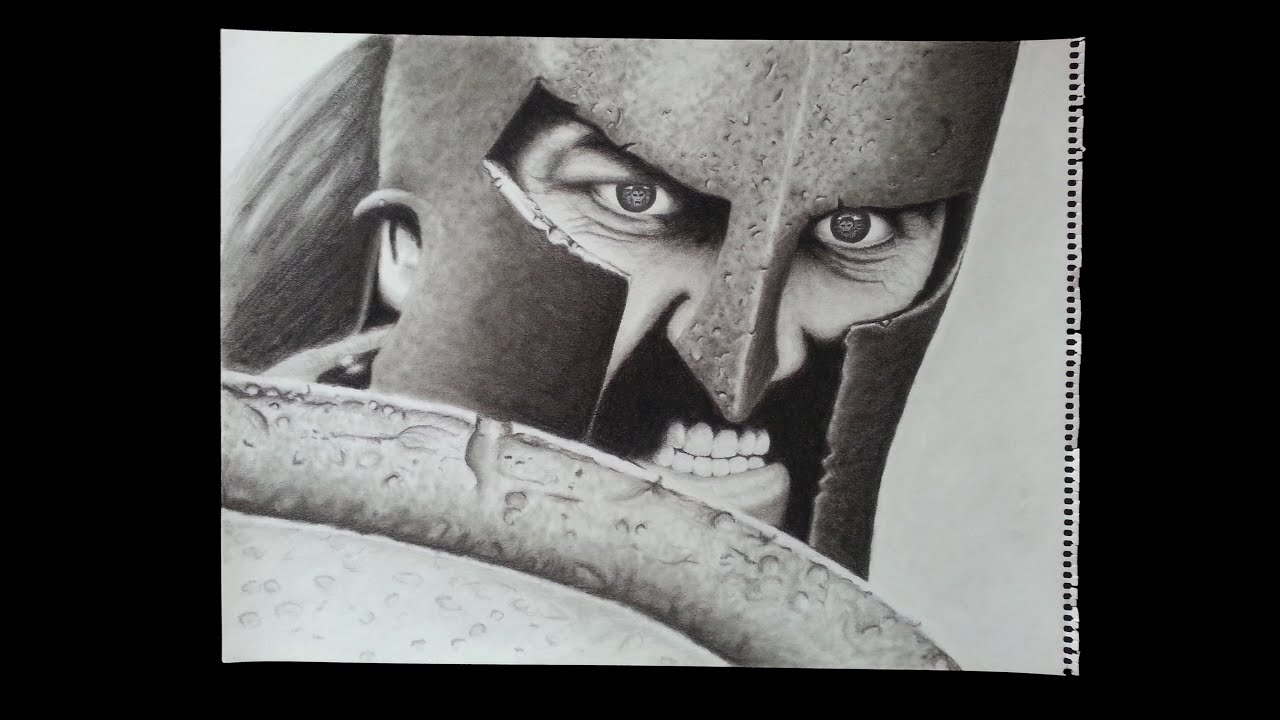 Drawing Gerard Butler as Leonidas from the Movie 300 - YouTube Gerard Butler 300
