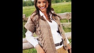 Женские Жилеты и Безрукавки, Вязаные Спицами 2018 /Women's Vests & Sleeveless Knit /Damen Westen