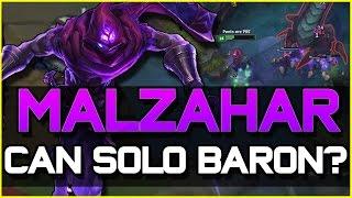 MALZAHAR REWORK CAN SOLO BARON? - Jungle Gameplay | League of Legends