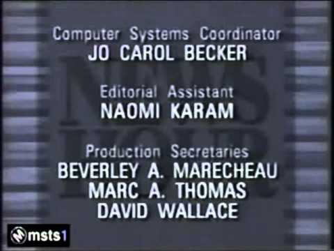 News Hour Closing Credits 1991