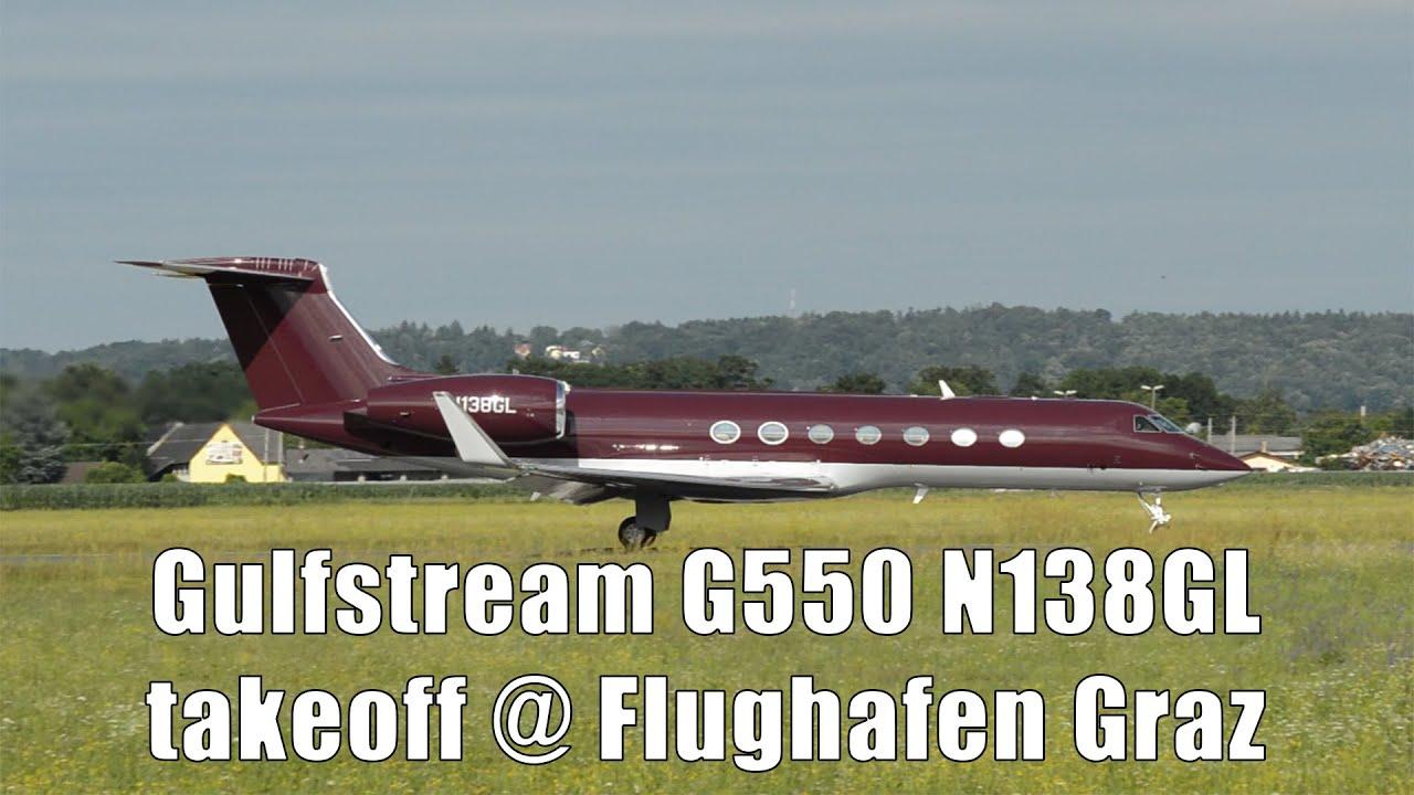 George Lucas Gulfstream G550 takeoff @ Flughafen Graz   N138GL