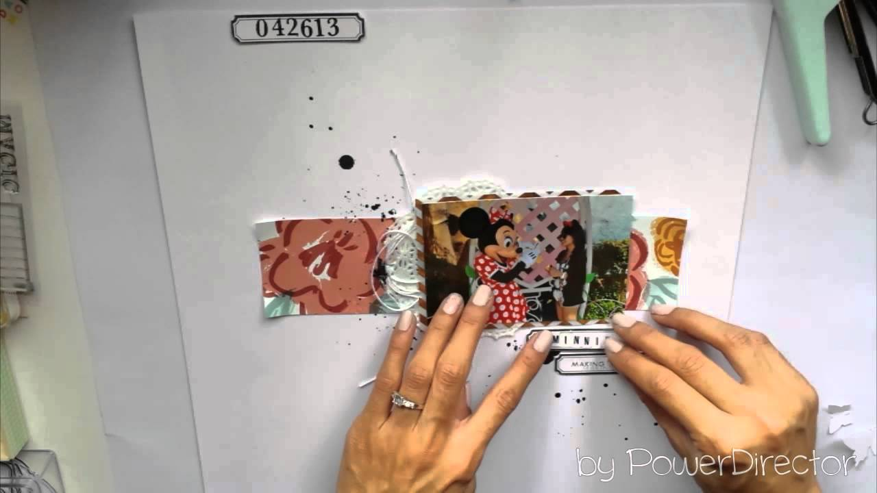 Minnie Mouse Scrapbook Layout Process Youtube