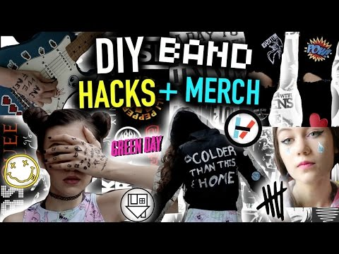 DIY Concert/Music LIFE HACKS + Band MERCH