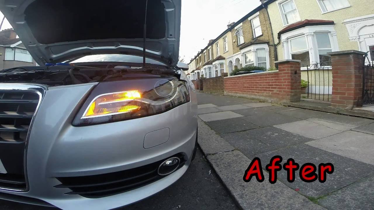 How To Change The Indicator Bulb On An Audi A4 B8 Sline Youtube