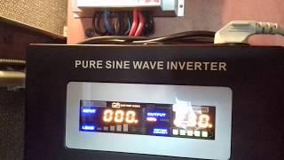 Sinus pro 2500W 24/230V test przetwornicy,mini elektrownia słoneczna fotowoltaiczna