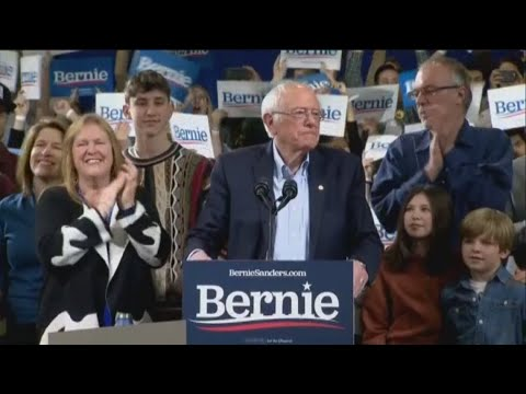 Bernie Sanders pumps up his supporters after win in Vermont