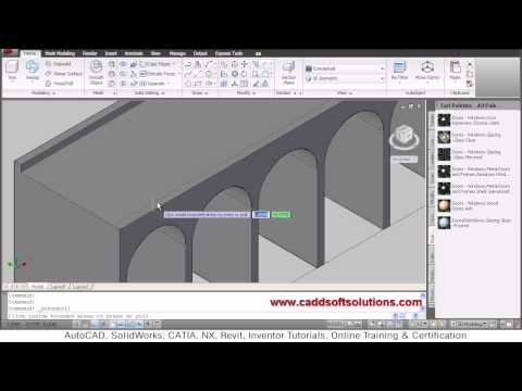 AutoCAD 3D Window Tutorial   AutoCAD 2010   Doovi