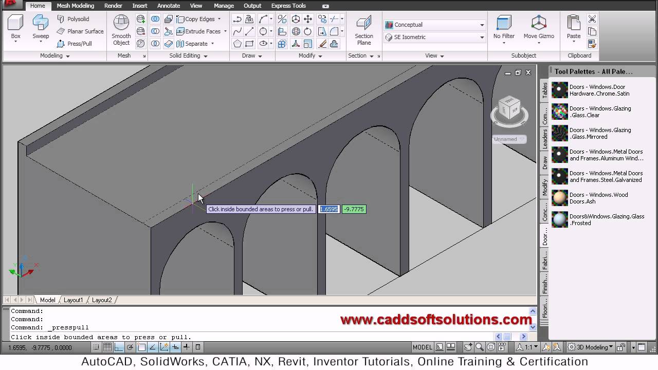how to draw a bridge in autocad