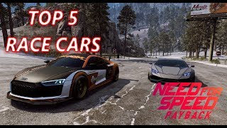 Need For Speed Payback Top 5 Race cars