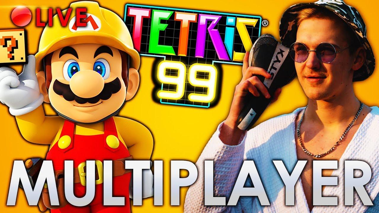 Böse aus der Abobox flanken (Mario Maker 2 Multiplayer & Tetris 99)