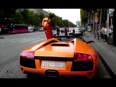 Lamborghini LP640 Leaves Champs Elysees
