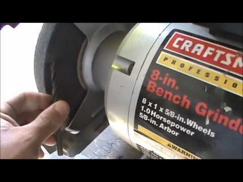 how to sharpen drill bits on a bench grinder updated