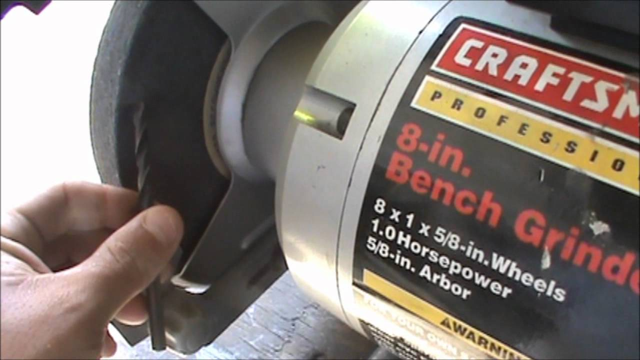 How To Sharpen Drill Bits On A Bench Grinder Updated Youtube