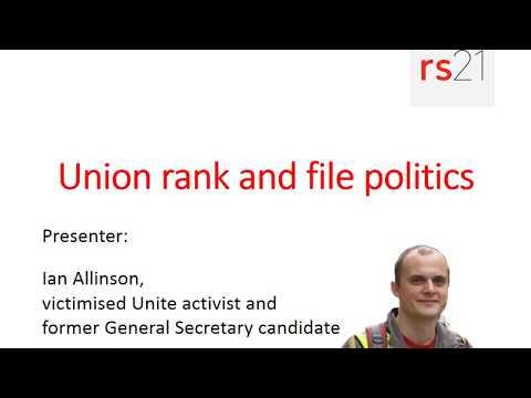 Union rank and file politics