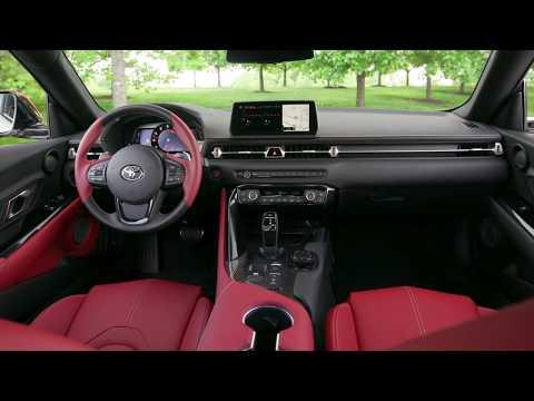 2020 Toyota Supra Launch Edition's Two-Tone Red & Black Interior
