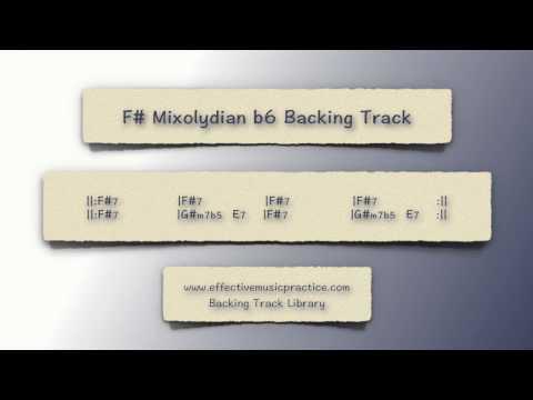 f# mixolydian b6 backing track