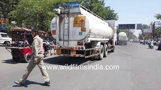 Oxygen trucks reach Delhi and Meerut, laden with liquid Oxygen for Covid hospitals