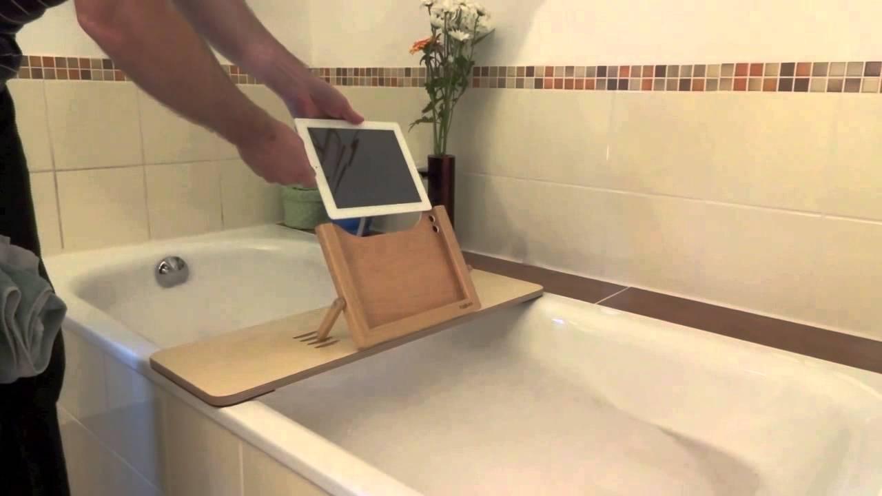 tublet tablet halterung f r die badewanne youtube. Black Bedroom Furniture Sets. Home Design Ideas