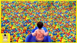 Fun indoor playground for family at play area nursery rhymes song for baby kids | MariAndKids Toys