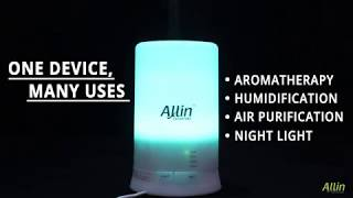 Cool Mist Ultrasonic Humidifier Aroma Diffuser with 4 Timer Setting and 7 Color LED Lights 100 ML