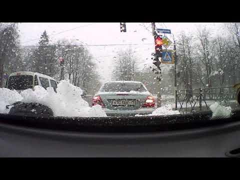 Приозерск утро 10 04 2019 и снова снег