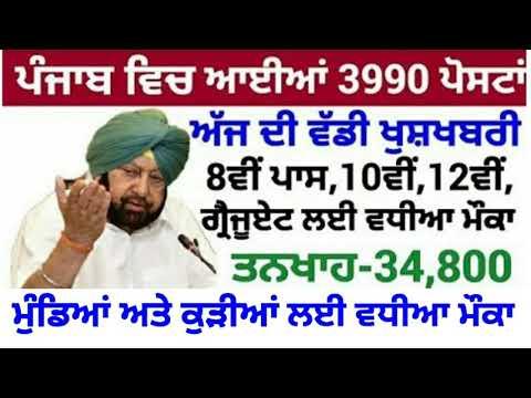 Punjab Govt Jobs Sep 2020|Punjab Patwari Recruitment 2020|Punjab Police Bharti 2020