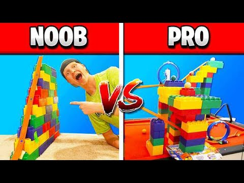 NOOB vs PRO HOT WHEELS RACE TRACK CHALLENGE!