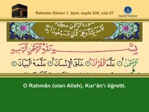 En yavaş okuyuşla Kuran 534. sayfa tecvitli sayfa sayfa en yavaş hatim 27. cüz