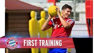 Pep Guardiola meets Robert Lewandowski | First Training together