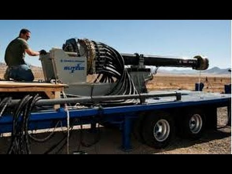 General Atomics Blitzer Electromagnetic Railgun Test