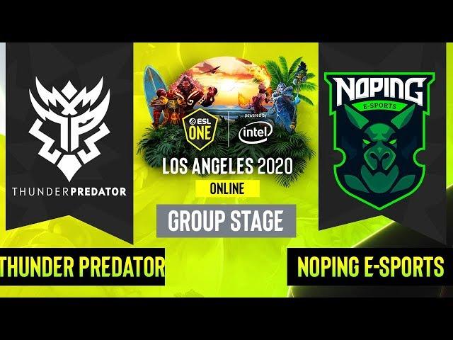 Dota2 - Thunder Predator vs. NoPing E-sports - Game 2 - Group Stage - SA - ESL One Los Angeles