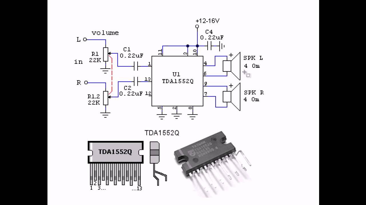 схема усилителя на tda 1552q
