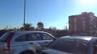 Nevada en cordillera desde Santiago 13 Junio 2014 + Jumbo Bilbao filma: Sergio Mura Rossi
