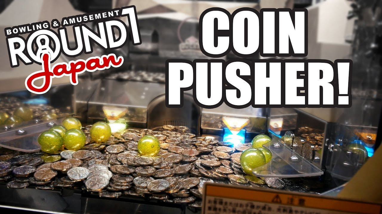 Going for the coin pusher jackpot at Round 1 arcade in Japan!