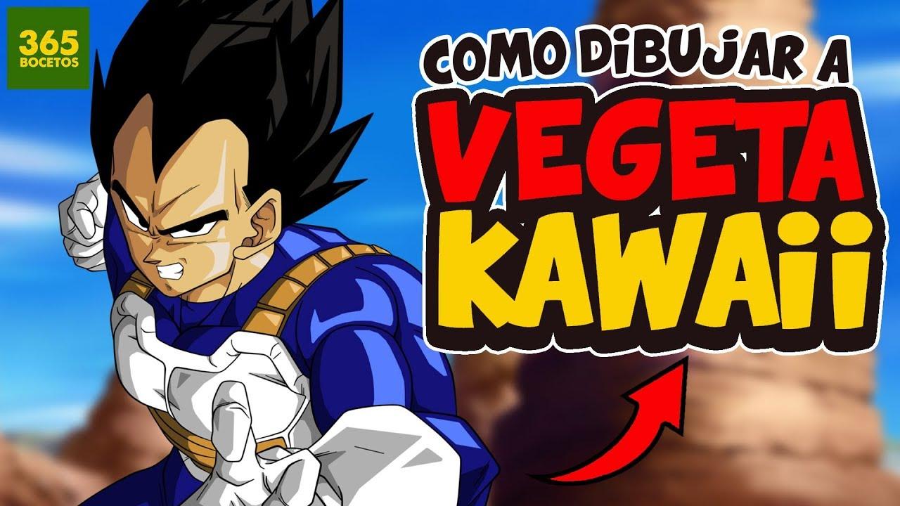 Como Dibujar A Vegeta Kawaii Dibujos Kawaii Faciles Dragon Ball
