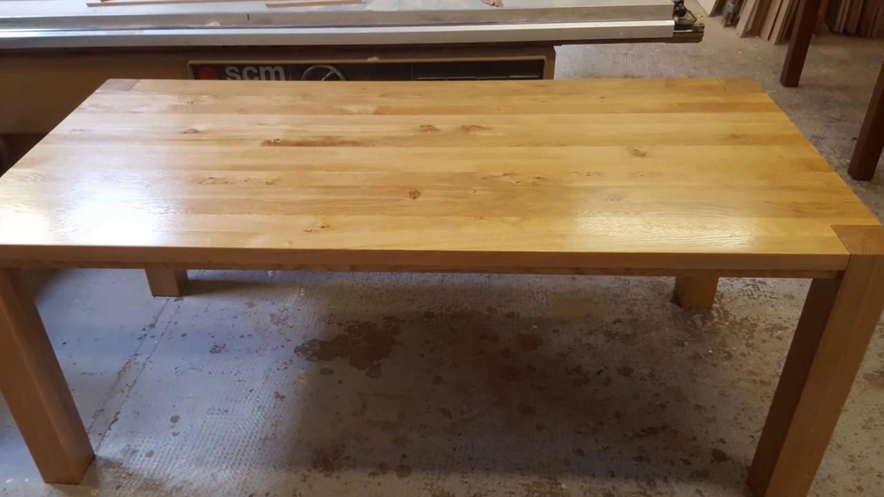 Oak doors Oak tables Oak worktop spray finished in a semi matt