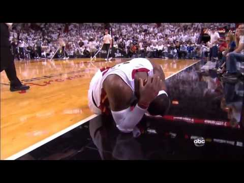 Lebron James Flagrant Flop on Tyson Chandler (full play) 720p HD